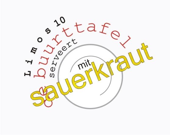 24-11> Mit sauerkraut. Bij de buurttafel
