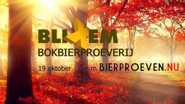 Bokbierproeverij bij Blixem op 19 oktober