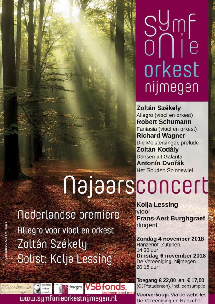 Symfonieorkest Nijmegen geeft najaarsconcert in de Vereeniging