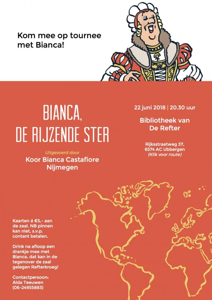 Concert 'Bianca, de rijzende ster' in de Refter op 22 juni
