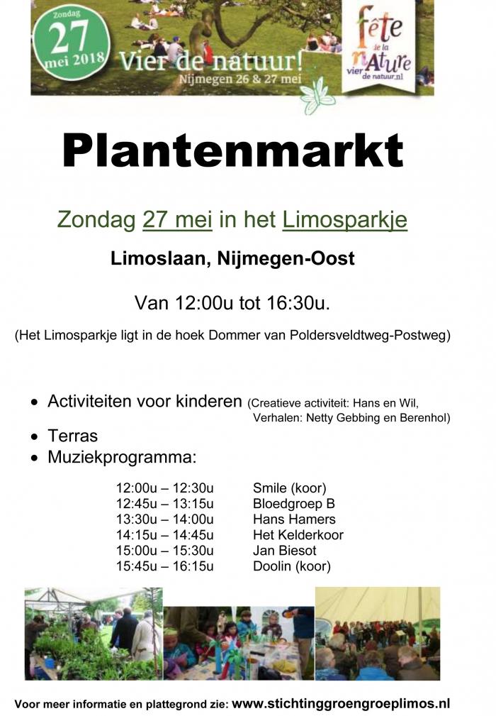 Plantenmarkt-Vier de natuur, 27 mei in het Limosparkje