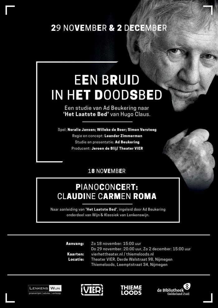 Wijn & Klassiek: special rondom de novelle 'Het Laatste Bed' van Hugo Claus met pianiste Claudine Carmen Roma